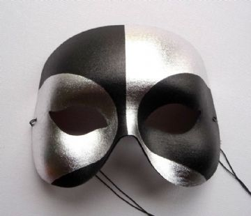 Black & Silver Voodoo Metallic Mask (1)